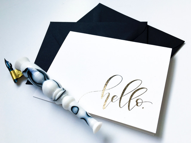 Gold Hello Card